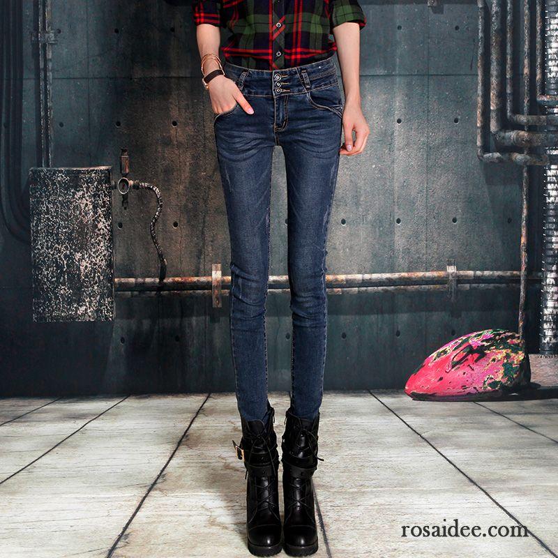 beschichtete jeans schwarz damen schlank herbst hohe. Black Bedroom Furniture Sets. Home Design Ideas