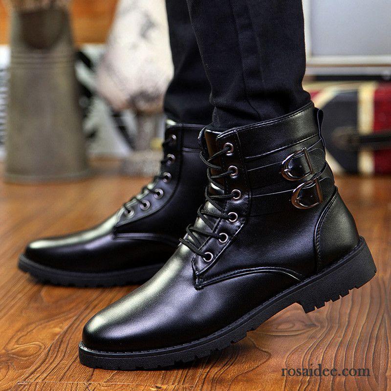 huge discount 3af94 913fe Boots Herren Leder Winter Stiefel Casual Martin Stiehlt Hohe ...