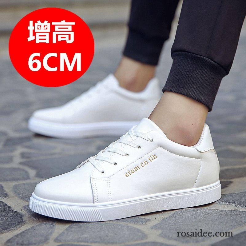 37c1a262cb5242 Business Sneaker Herren Schuhe Weiß Neue Herren Casual Skaterschuhe Erhöht  Feder Trend Günstig