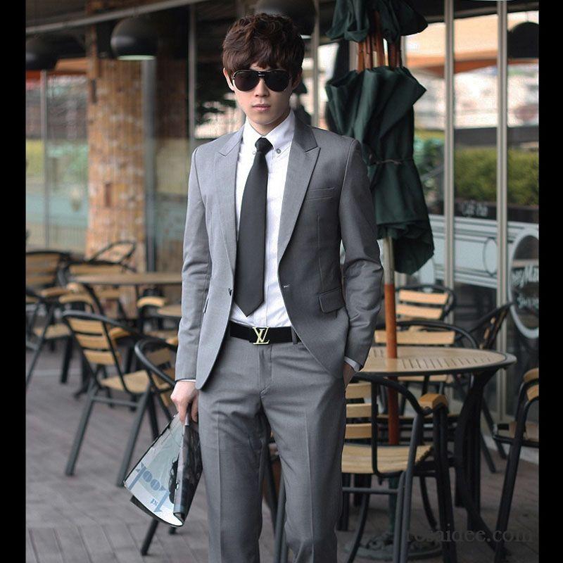 Günstige Anzüge Für Junge Männer Beruflich Kleid Schlank ...