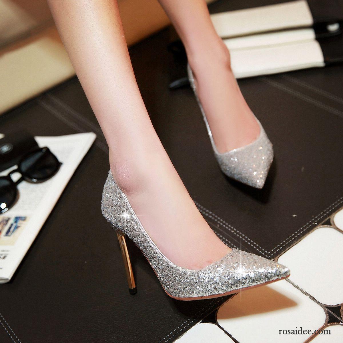 Graue Schuhe Pumps Partei Schuhe Hochhackigen Damen Pailletten Schnürschuhe  Ultra Dünne Fersen Hochzeit Schuhe Gold Kaufen 6ab24f54a6