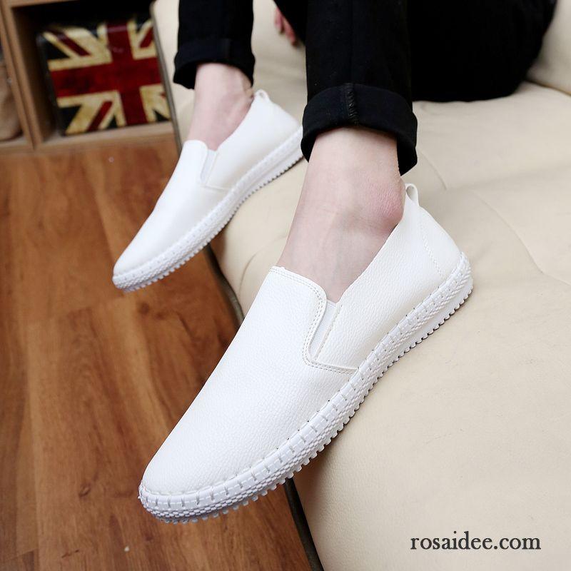 Schwarze Schuhe Herren Feder Trend Slip on Neue Halbschuhe
