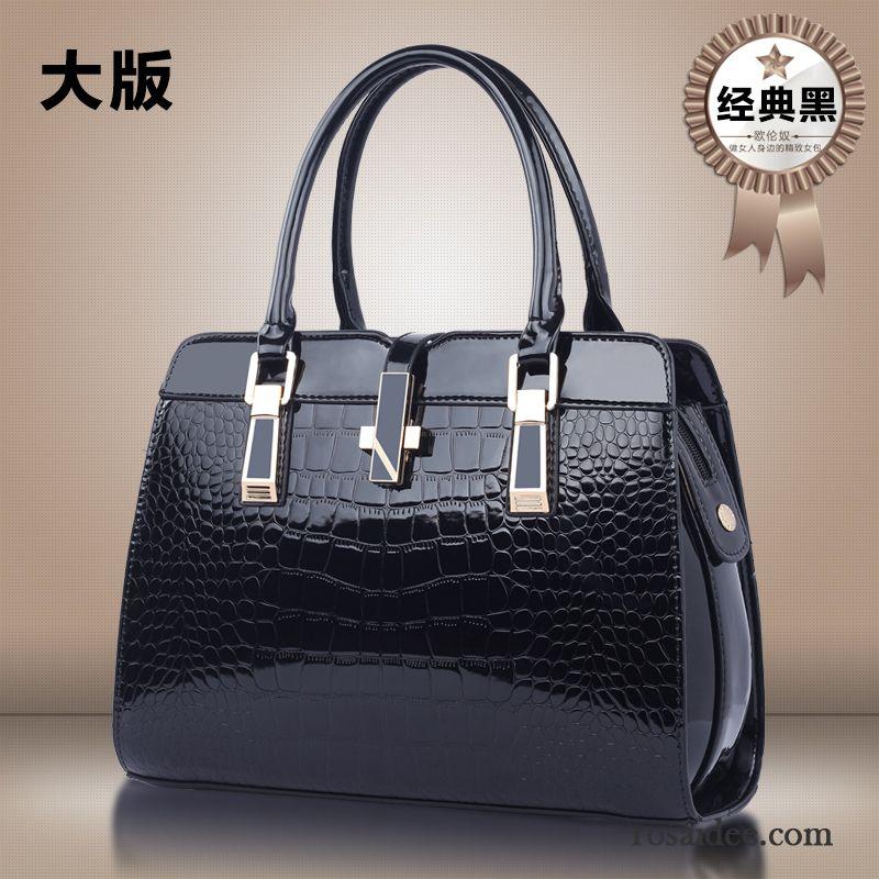6121c13addd968 Handtasche Leder Schwarz Sale Winter Mittleren Alters Handtaschen Das Neue  Mama Herbst Messenger-tasche Großes Paket