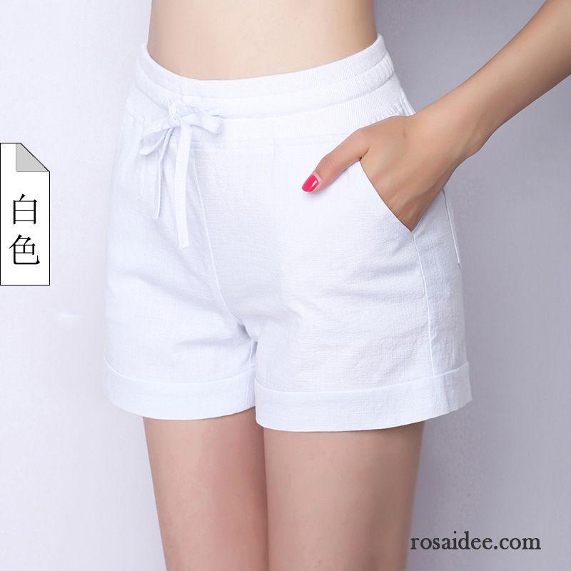 Mode Damenhosen Kurze Hose Sommer Baumwolle Damen Sport Elastisch