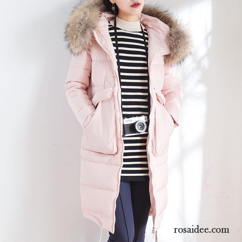 buy popular 37521 5a5cb Pinke Daunenjacke Damen Verdickung Damen Winterkleidung ...
