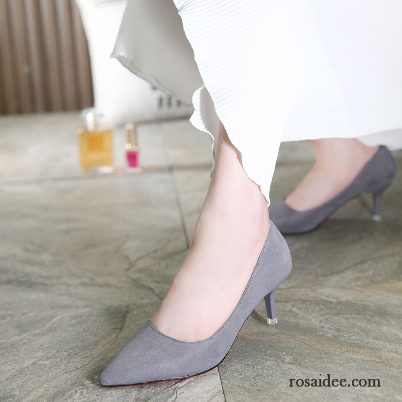 Pumps Silber Flach Sexy Pumps Spitze Schuhe Damen Wildleder
