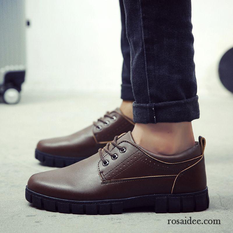 59c279a8c283 Schuhe Herren Elegant Herren Dicke Sohle Schuhe Schnürung Trend ...
