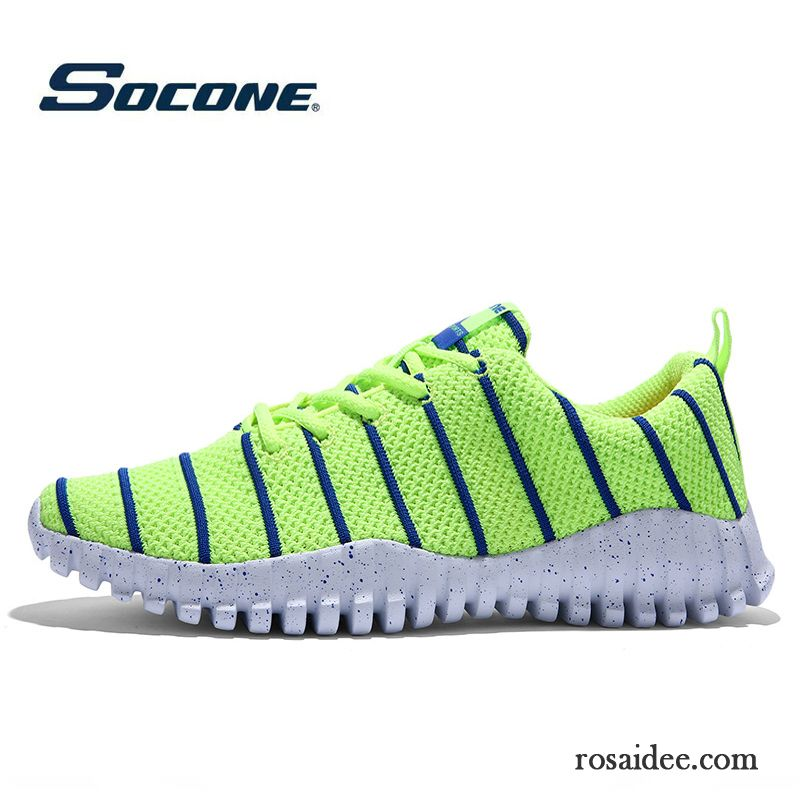 Schuhe Schwarz Weiß Herren Sportschuhe Atmungsaktiv Net
