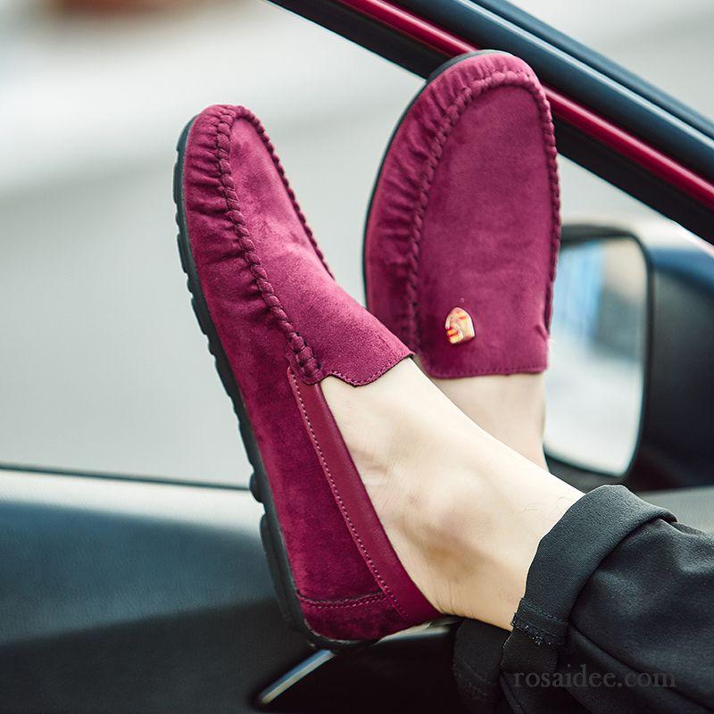 f035a8eac3101c Weiße Männer Schuhe Lederschue Weiche Sohle Gefrostet Trend Faul Casual  Herren Schuhe Sommer Slip-on England Echtleder Sale