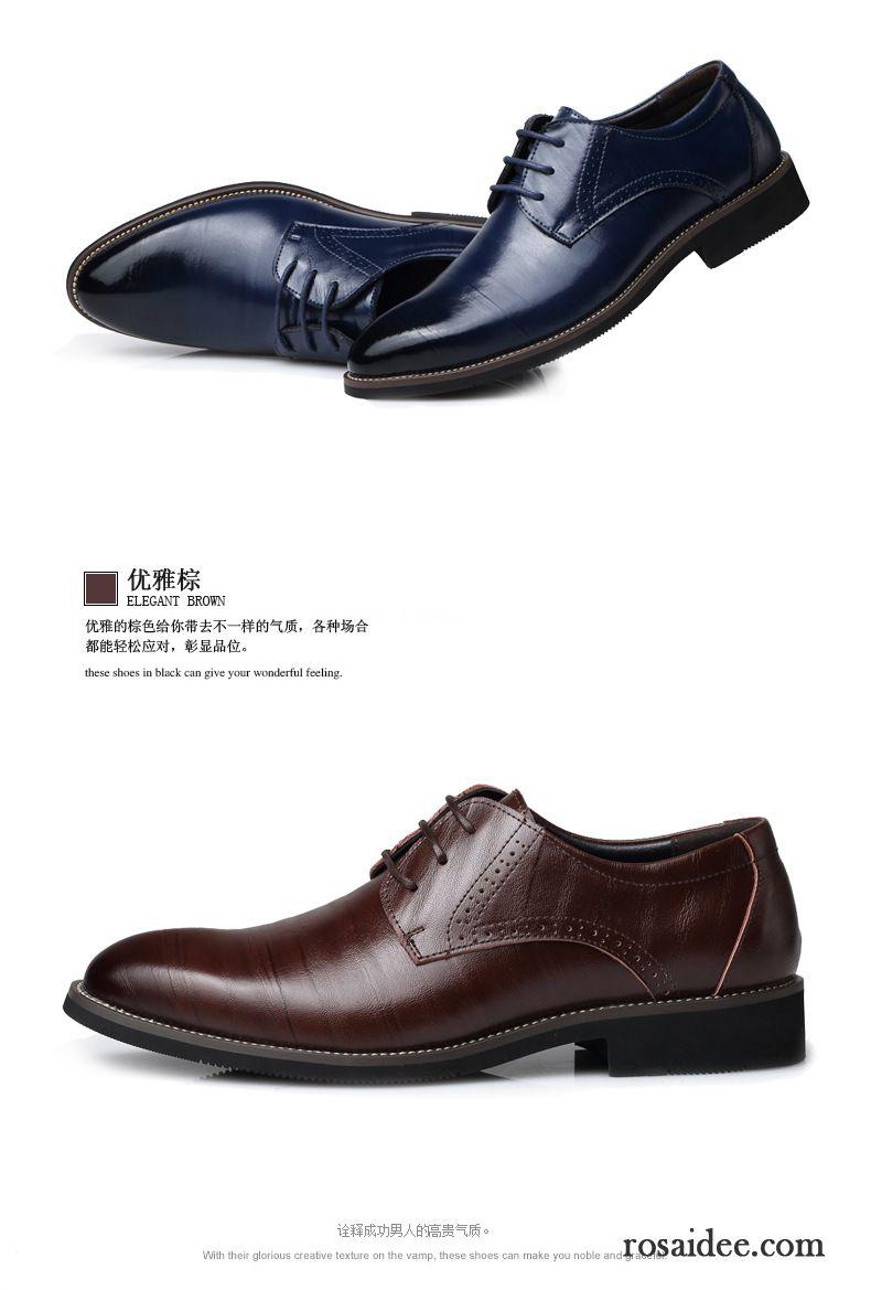 Braune Schuhe Herren Geschäft Casual Echtleder Schuhe