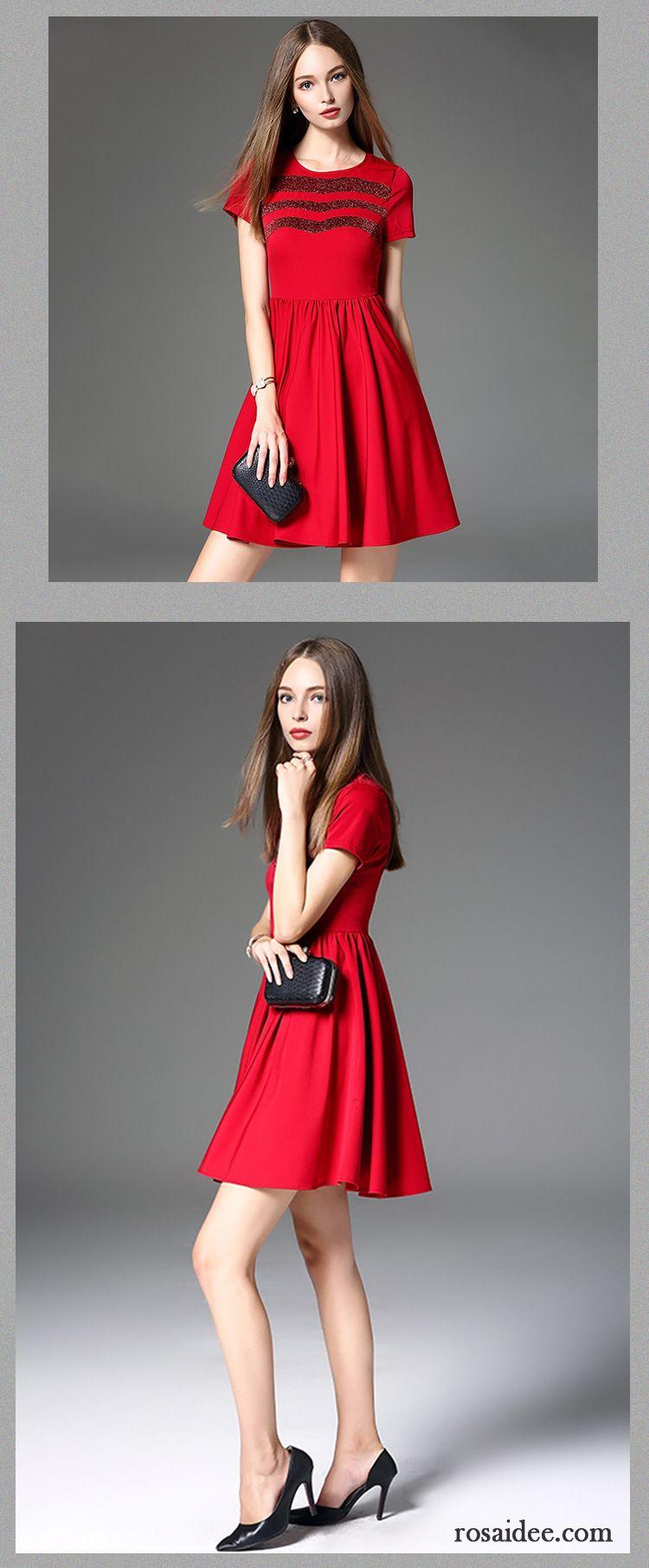 Damen Sommerkleider Lang Marke Herbst Schönheit Neu Rote Kleider ...