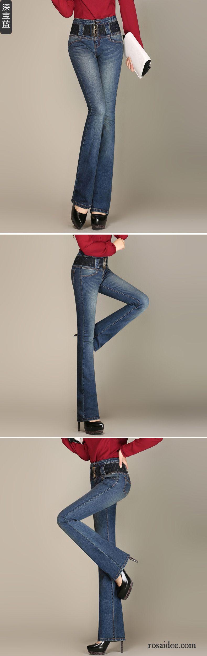 kn chel jeans damen leicht neu hohe taille hose elastisch. Black Bedroom Furniture Sets. Home Design Ideas