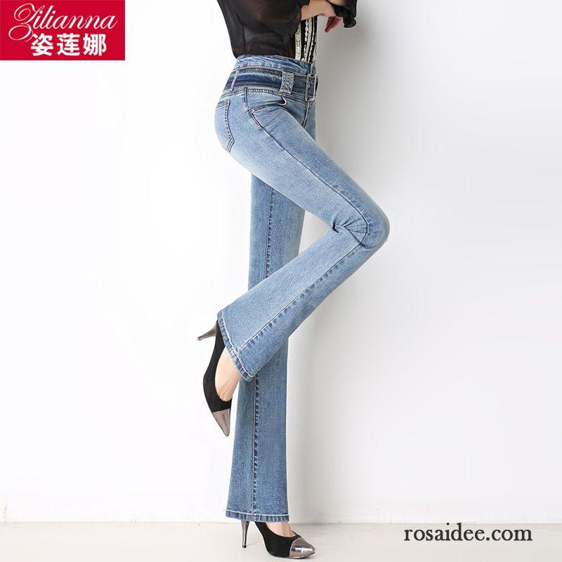 kn chel jeans damen leicht neu hohe taille hose elastisch schlank herbst ausgestellte jeans. Black Bedroom Furniture Sets. Home Design Ideas
