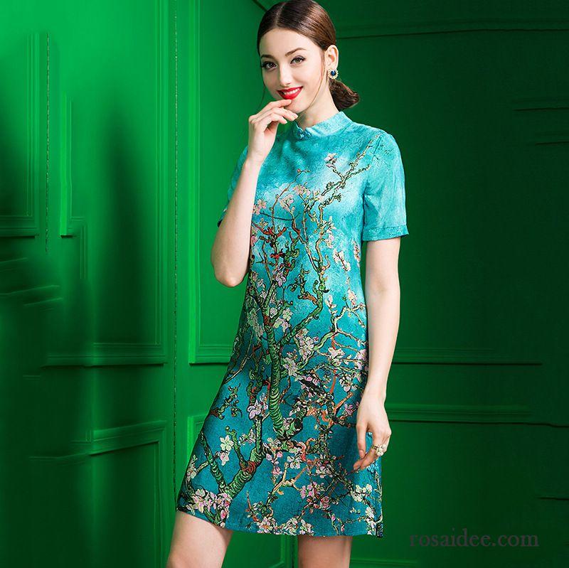 d6cd40db2437c3 Cocktailkleider Online Shop Cheongsam Schlank Printkeid Sommer Neue Sale