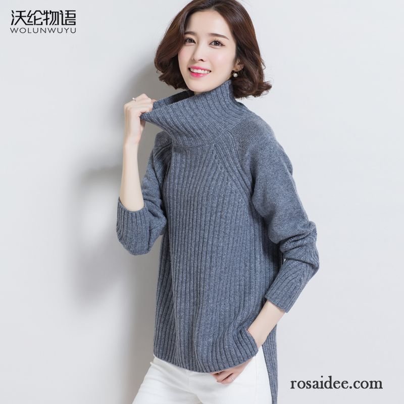 Damen Pullover Braun Herbst Rein Winter Pullover Unteres Hemd Damen