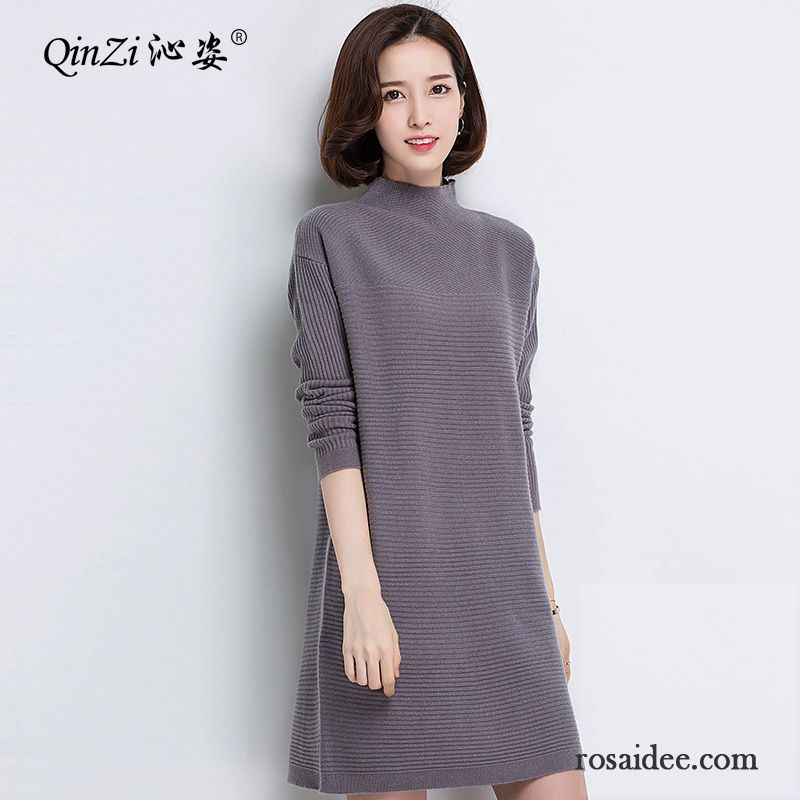 Damen Pullover Online Kaufen Stricken Rein Pullover Damen Warme Herbst  Winter Langer Abschnitt Unteres Hemd Günstig fc7488e2ae