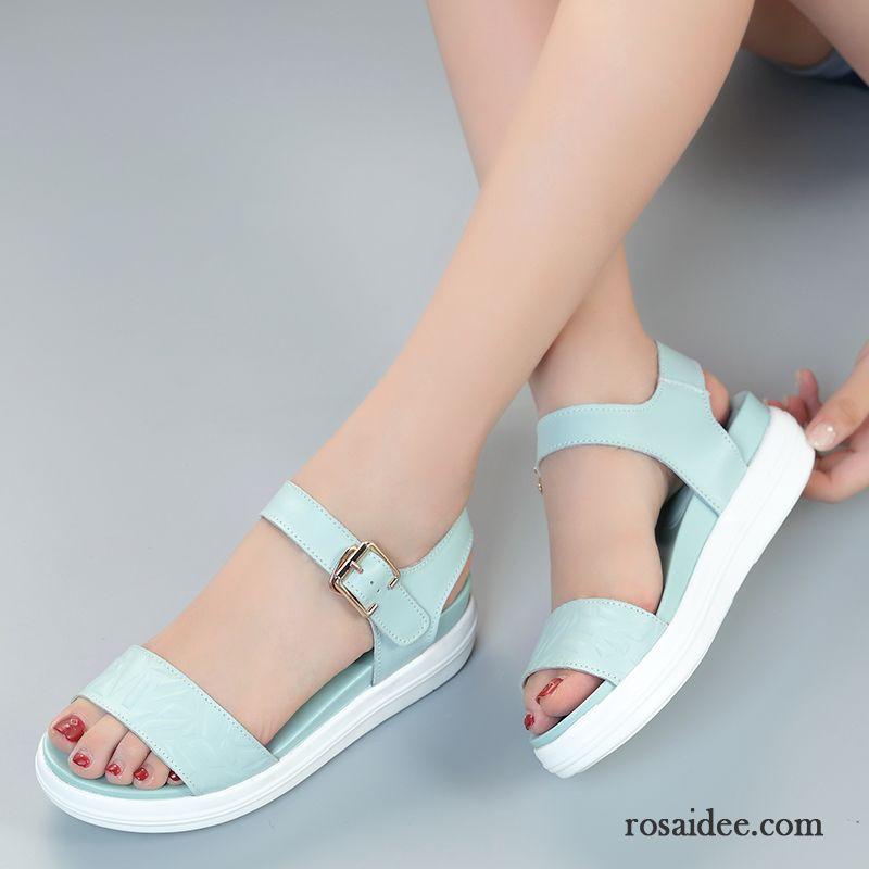 Neue Sandalen Damen Schuhe Echtleder Dunkelblau SUzpqGMV