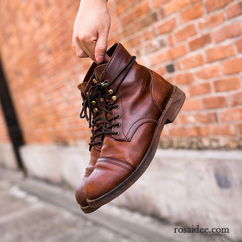 Graue Schuhe Herren Hohe Retro Martin Stiehlt Kurze Stiefel