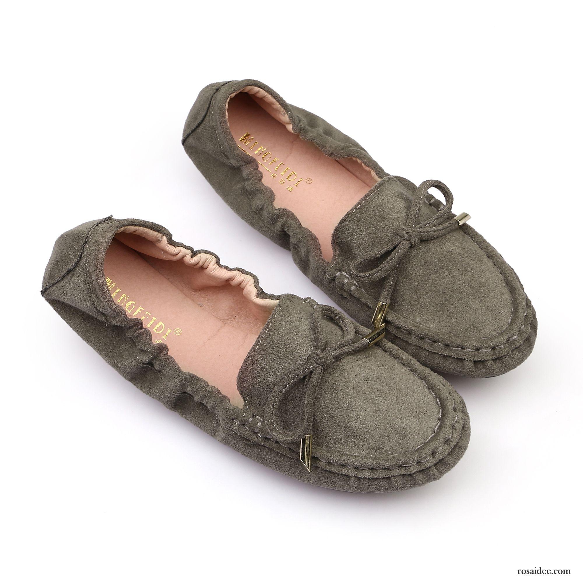 b07ce76d9659e9 Halbschuhe Beige Damen Tuch Schuhe Weiche Sohle Flache Schuhe Grün Herbst  Halbschuhe Große Größe Allgleiches Damen