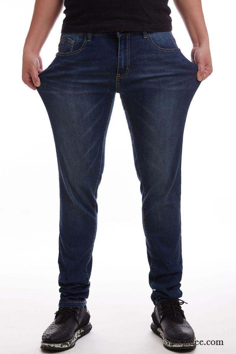 zerrissene jeans herren schwarz winter gerade hose schlank jeans rein elastisch herren lange. Black Bedroom Furniture Sets. Home Design Ideas