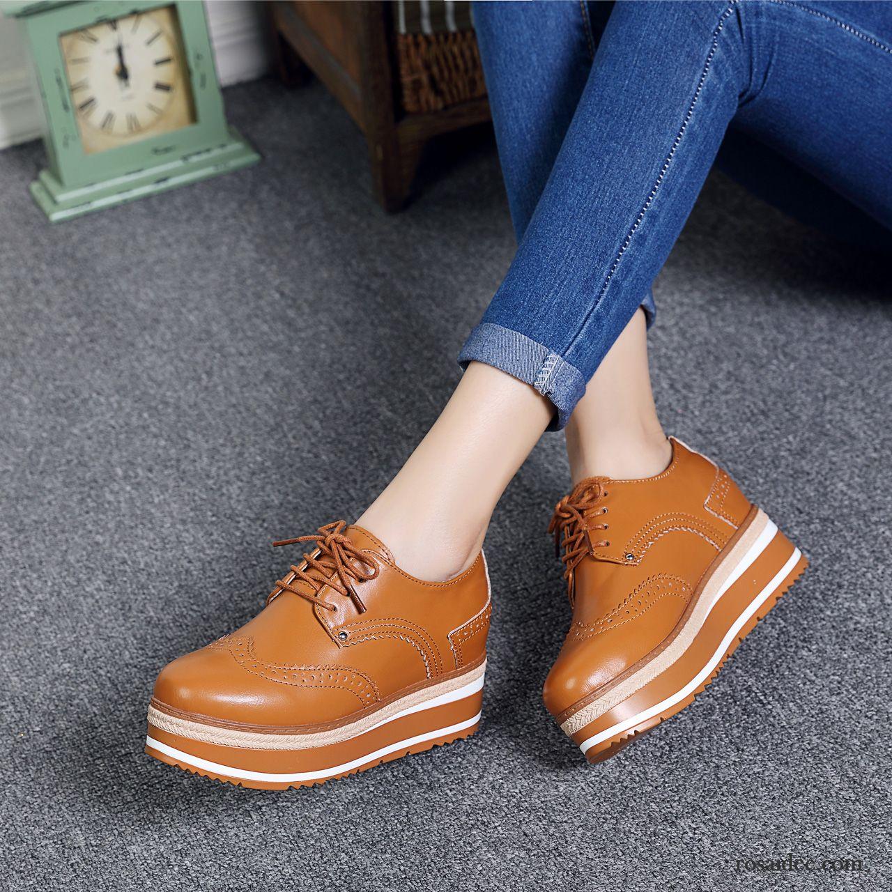 beste Qualität Offizielle Website letzte Veröffentlichung Italienische Schuhe Marken Dicke Sohle Erhöht Feder Damen ...