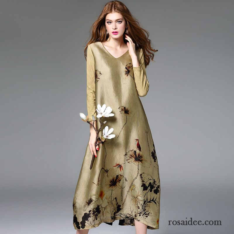 Kleid dunkelblau lange armel