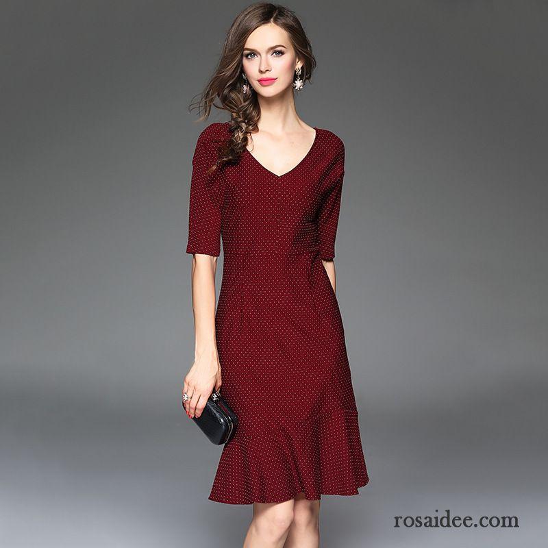 Kleid Blau Weiß Gestreift V-ausschnitt Fein Neu Dunkel ...