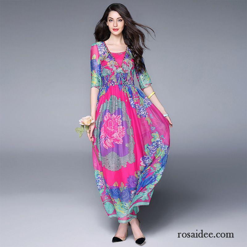 langes blaues kleid trend groß kleider damen neue sommer