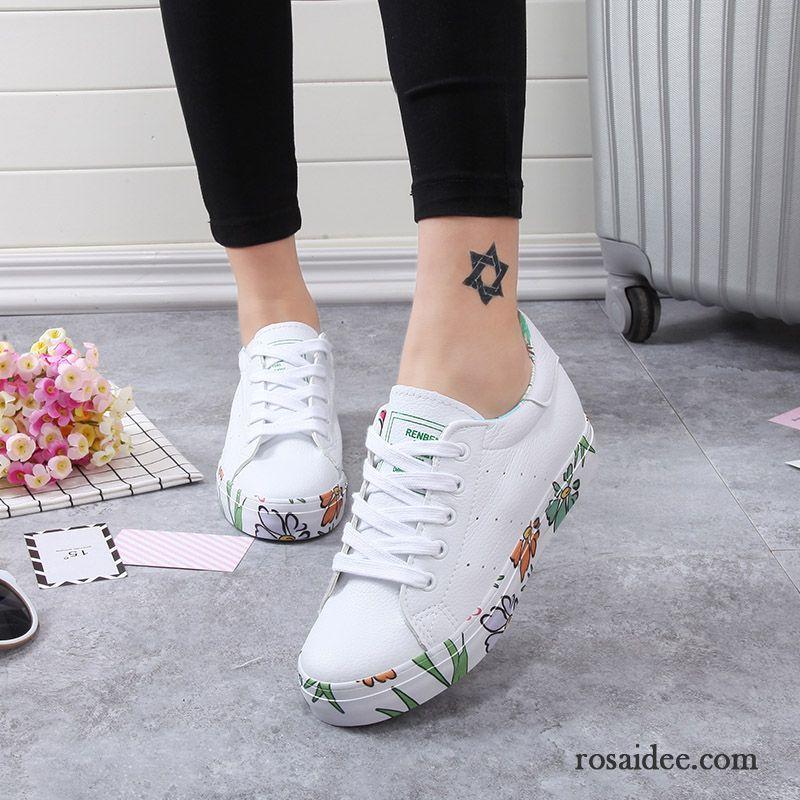 Mode Schuhe Hoch Damen Feder Schuler Tuch Schuhe Damen Skaterschuhe
