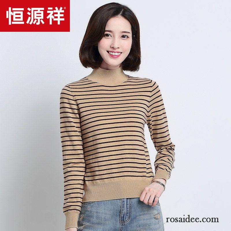 e2b016ab011e61 Moderne Pullover Damen Neu Winter Rein Lange Ärmel Strickwaren Herbst  Streifen Damen Dünn Wollpullover