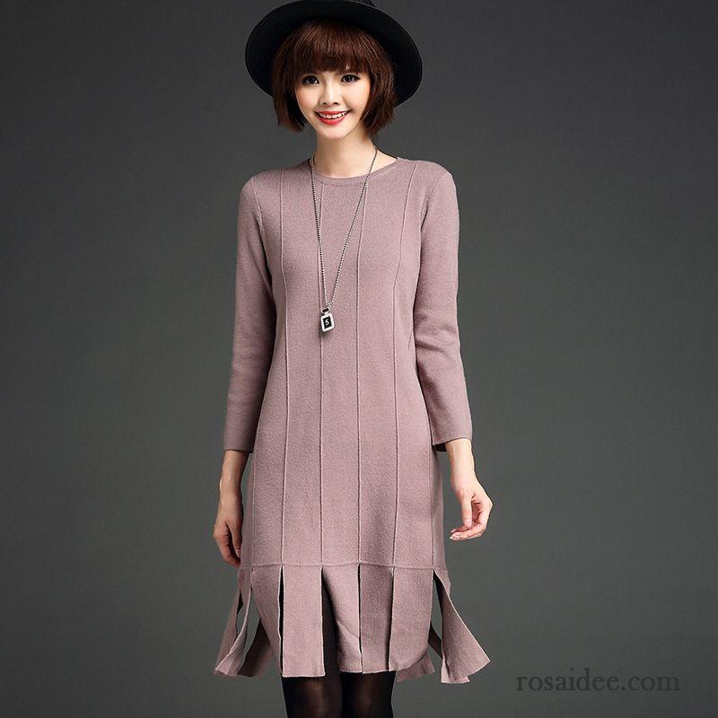 23a2dbbdcbf6ed Online Kleidung Bestellen Strickkleid Fein Herbst Damen Schlank Quaste Neu  Lange Ärmel Kaufen