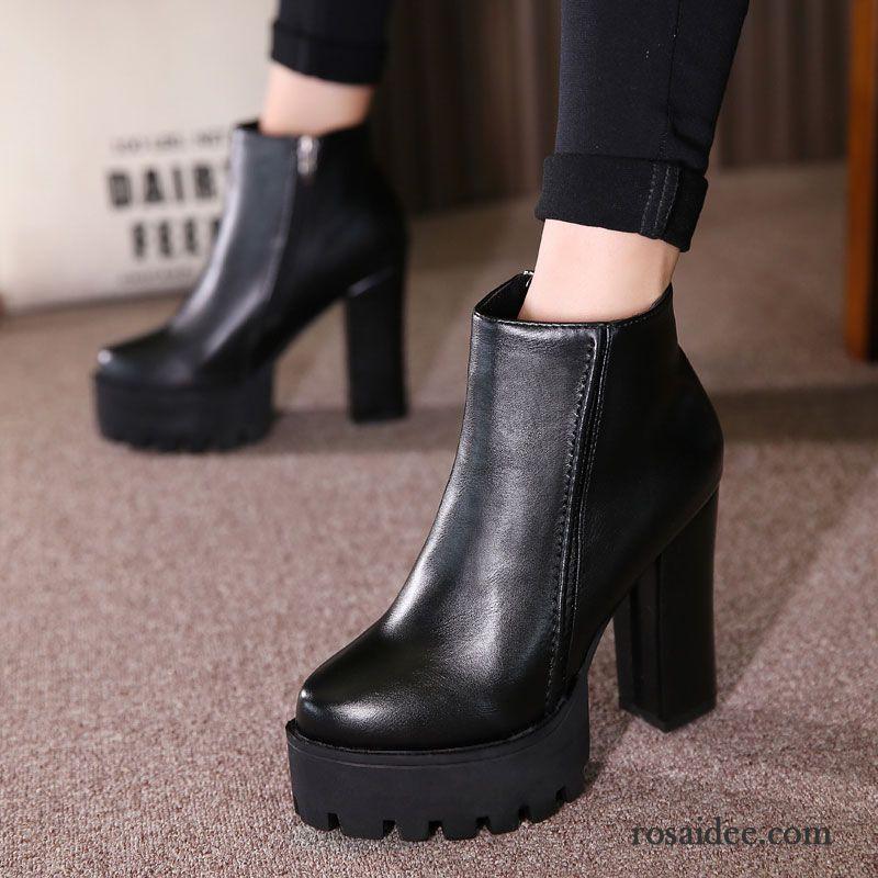 Schuhe Mit 5cm Absatz Reissverschluss Damen Hochhackigen Neue