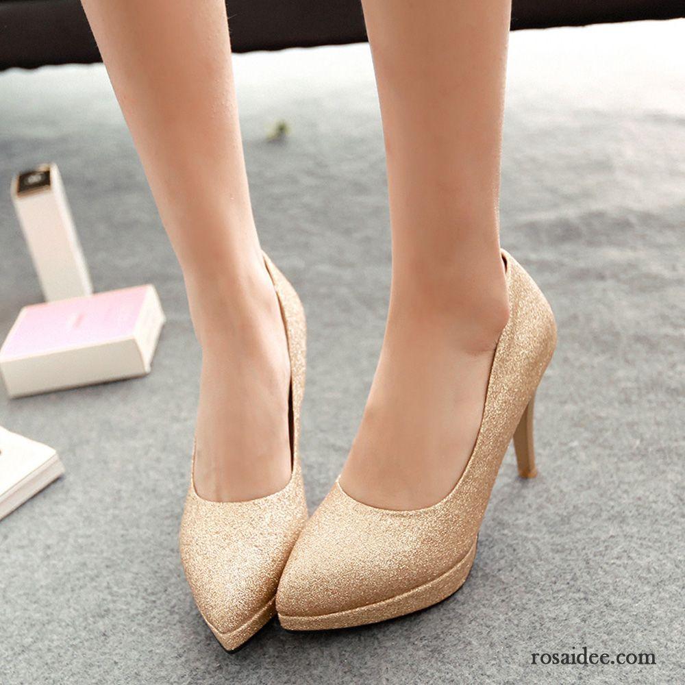 Schuhe Mit 5cm Absatz Trend Wasserdichte Plattform Damen Pumps Ultra