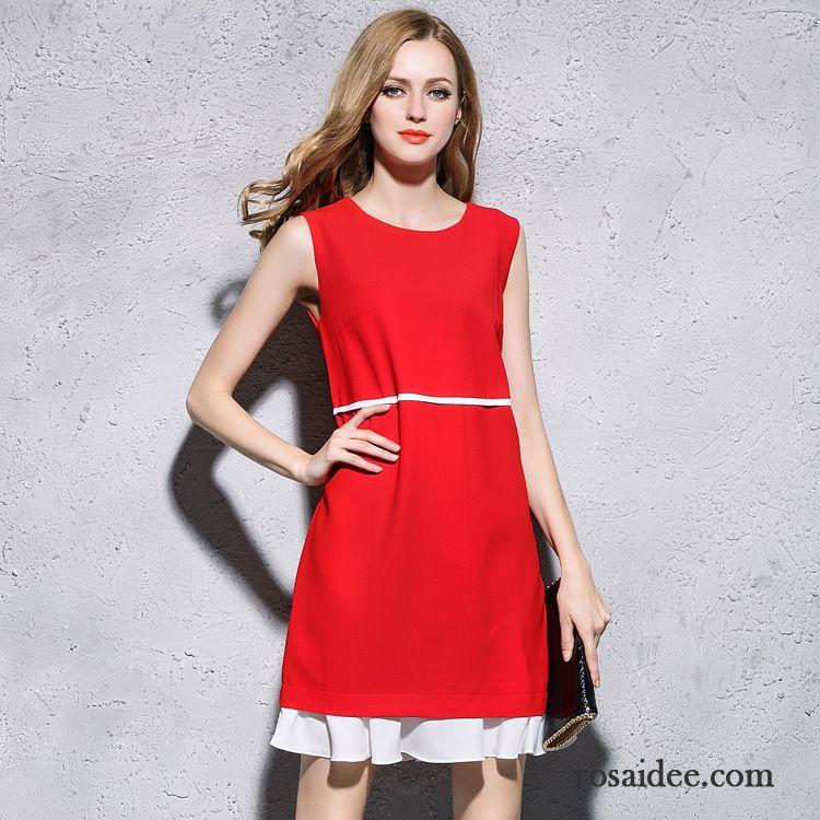 Sommerkleider Damen Kurz Entwurf Kleid Damen Weste Lotus Blatt