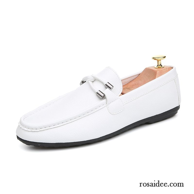 c50897d8a7f8c6 Sportliche Halbschuhe Herbst Lederschue Slip-on England Trend Schuhe Herren  Neue Faul Weiß Casual Günstig