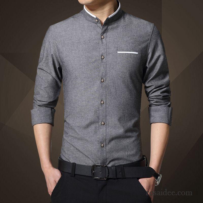 online retailer 832fe 52903 Style Hemden Für Männer Hemden Rein Baumwolle Herren Lange ...