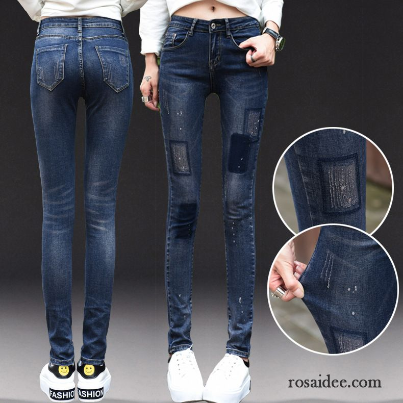 super skinny jeans damen jeans elastisch schlank schmales. Black Bedroom Furniture Sets. Home Design Ideas