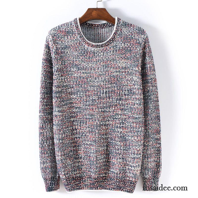 Sweatshirt Reißverschluss Herren Winter Rundhals Schlank Herbst Farbe  Pullover Unteres Hemd Herren Strickwaren Rabatt ... 40be98984f