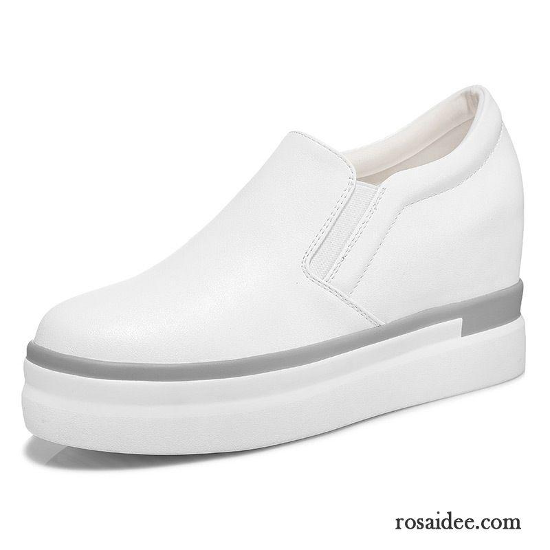 4223564e019f93 Weiße Schuhe Damen Plateauschuhe Halbschuhe Herbst Neue Erhöht Damen Dicke  Sohle Kaufen