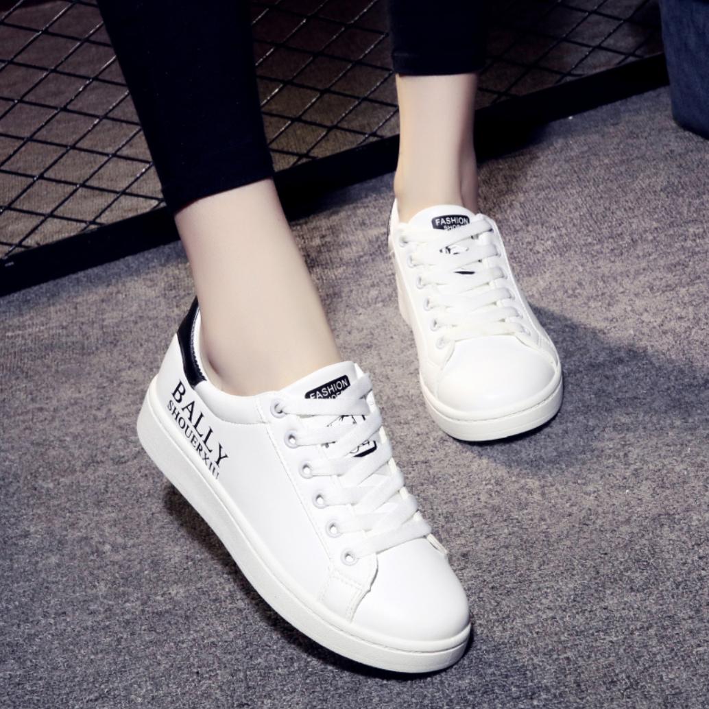 Frauen Allgleiches Weiße Sneaker Schüler Weiß Damen Herbst Trend iXZuPk